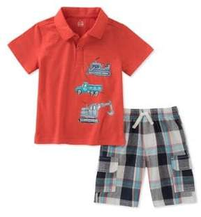 Kids Headquarters Baby Boy's Two-Piece Polo Shirt and Short Set