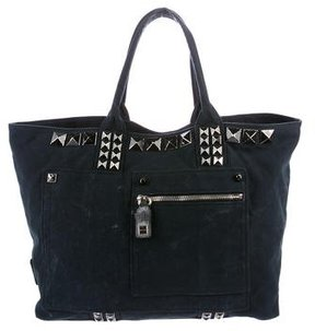 Marc Jacobs Distressed Studded Tote - BLACK - STYLE