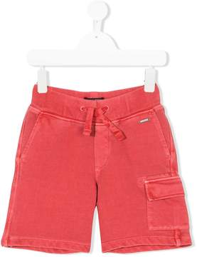 Woolrich Kids fleece cargo pocket shorts