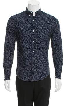 Band Of Outsiders Printed Button-Up Top