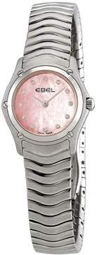 Ebel Classic Diamond Pink Dial Ladies Watch
