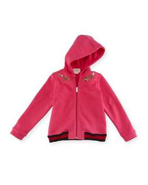Gucci Zip-Up Hooded Sweatshirt, Size 6-36 Months