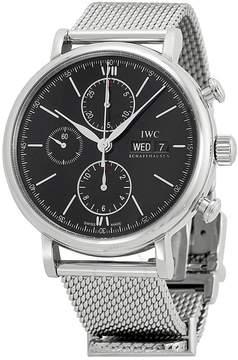 IWC Portfonio Chronograph Automatic Black Dial Steel Men's Watch