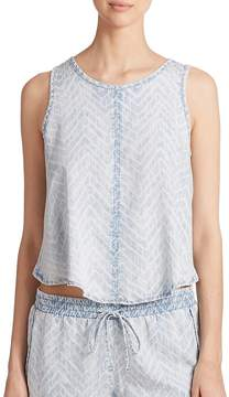 Bella Dahl Women's Hi-Lo Chambray Tank Top