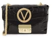 Mario Valentino Lola Crocodile Embossed Leather Crossbody Bag