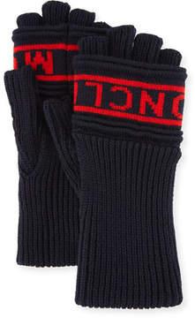 Moncler Men's Logo Knit Fingerless Gloves