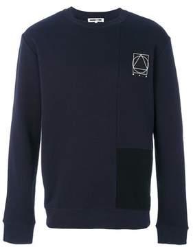 McQ Men's Blue Cotton Sweatshirt.