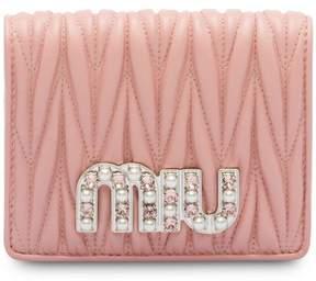 Miu Miu Matelassé small nappa wallet