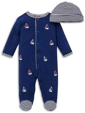Little Me Boys' Sailboats Footie & Hat Set - Baby