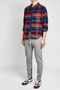 Golden Goose Deluxe Brand Printed Shirt with Wool, Alpaca and Mohair