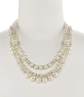Cezanne Triple-Row Mixed Faux-Pearl Necklace