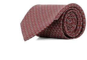 Salvatore Ferragamo Men's 0682148 Red Silk Tie.