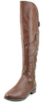 Rialto First Row Wide Calf Women Round Toe Synthetic Brown Knee High Boot.