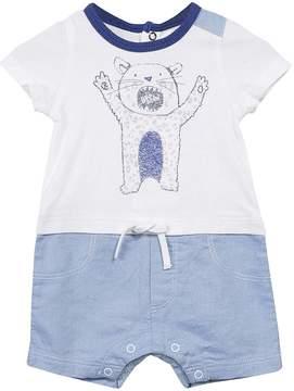 Catimini Pearly & Blue Bear Romper - Infant