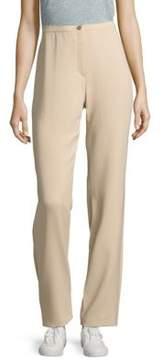 Basler Banded-Waist Flat-Front Pants