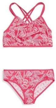 Vineyard Vines Toddler's, Little Girl's& Girl's Reversible Flamingo Two-Piece Bikini Set