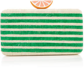 Kayu Striped Raffia Beatriz Clutch