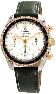 Omega Speedmaster Silver Dial Automatic Men's Leather Watch
