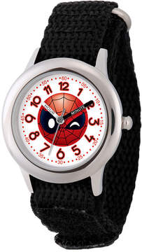 Marvel Emoji Boys Black Strap Watch-Wma000094