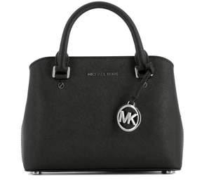 Michael Kors Black Leather Handle Bag - BLACK - STYLE