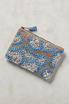 Anthropologie Beaded Bursts Pouch