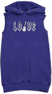 Zadig & Voltaire Love Hooded Cotton Sweatshirt Dress