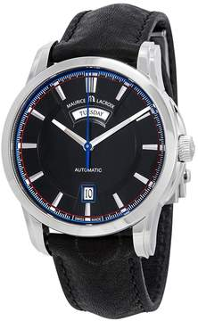 Maurice Lacroix Pontos Day/Date Retro Black Dial Men's Watch