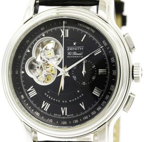 Zenith Chronomaster 03.1260.4021 Stainless Steel / Leather Automatic 45mm Mens Watch