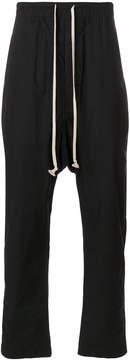 Rick Owens drawstring drop-crotch trousers
