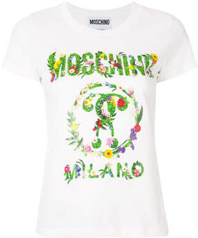 Moschino garland logo T-shirt