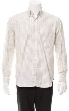 Loro Piana Plaid Button-Up Shirt