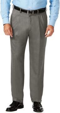 Haggar Big & Tall J.M. Premium Classic-Fit Stretch Sharkskin Pleated Dress Pants