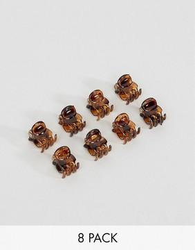 ASOS Pack of 8 Mini Hair Claws