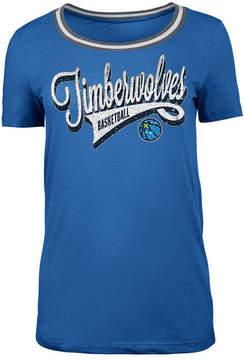 5th & Ocean Women's Minnesota Timberwolves Crew Trim T-Shirt