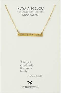 Dogeared Maya Angelou: I Sustain Myself: ID Bar Necklace Necklace