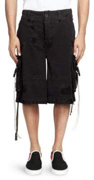 Palm Angels Cotton Cargo Shorts