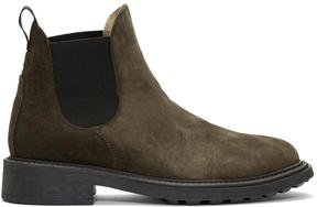 H By Hudson Brown Suede Caslon Chelsea Boots