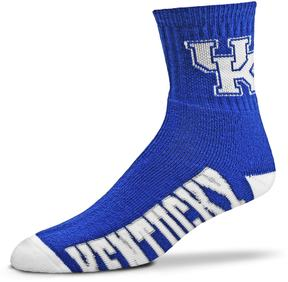 For Bare Feet Adult Kentucky Wildcats Team Color Quarter-Crew Socks