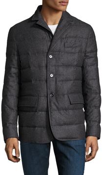 Allegri Men's Soft Flannel Puffer Jacket