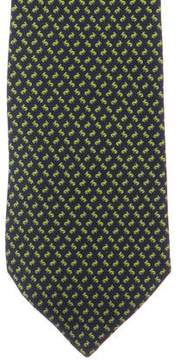 Salvatore Ferragamo Rabbit Print Silk Tie