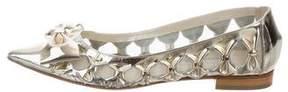 Oscar de la Renta Metallic Bow Flats