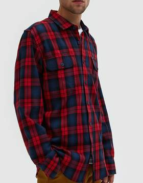 Obey Norwich Woven Shirt in Red Multi
