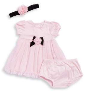 Little Me Baby Girl's Three-Piece Fairy Dress, Diaper Cover and Headband Set