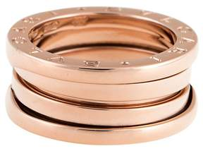 Bulgari Rose Gold 3 Band  B.Zero 1 Ring 5.5