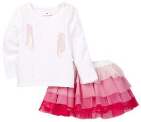 Kate Spade ballet slipper shirt & ruffle skirt set (Baby Girls)