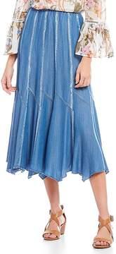 Chelsea & Theodore Pull-On Seamed Tencel Skirt