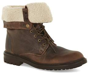 Topman Brown Leather Fold Down Boots