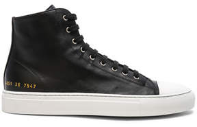 Common Projects Leather High Tournament Cap Toe Sneakers