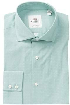 Ben Sherman Fine Line Print Slim Fit Dress Shirt