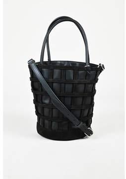 Alexander Wang Pre-owned Black Leather & Suede roxy Cafe Shoulder Bag.